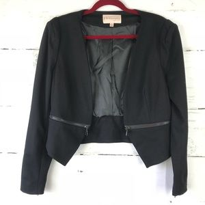 Philosophy Black Blazer with Zipper detail small